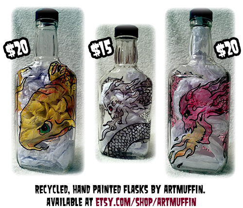 Hand Painted Flasks Now Available!