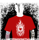 flaming skull t-shirts!