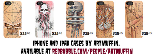 New ARTmuffin iphone cases available now!